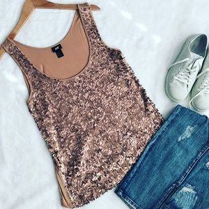 Copper sequin H&M Tank